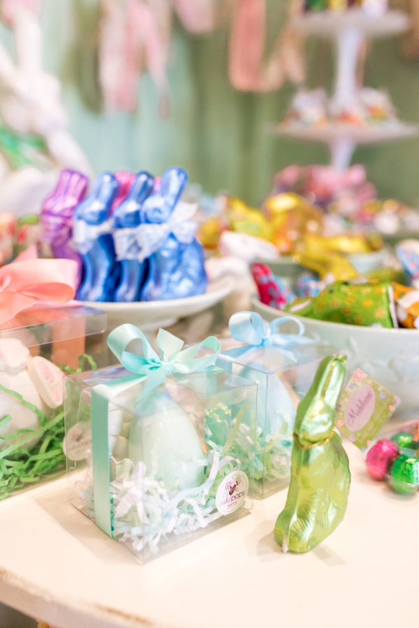 Selection of seasonal chocolate treats for Easter